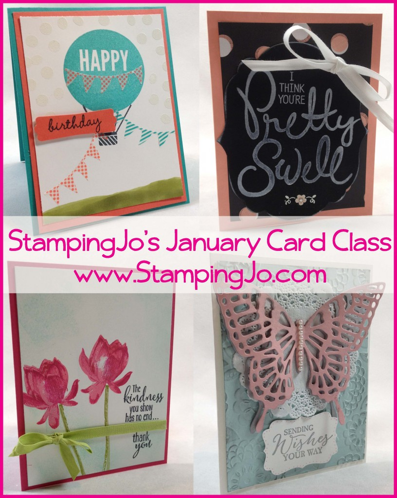 StampingJo's January card class
