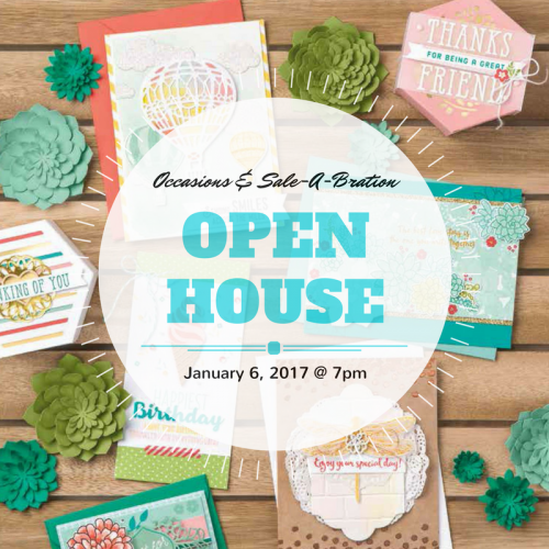 Occasions & Sale-A-Bration Open House, Stampin Up, StampingJo.com