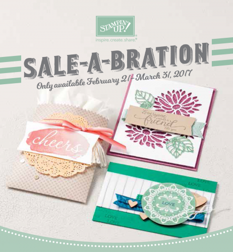 My Crafty Friends Monday: New Sale-A-Bration FREE Products