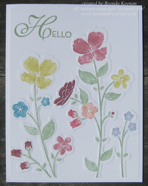 610wildflower meadow embossed
