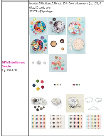 Stampin Up Shares -Embellishments