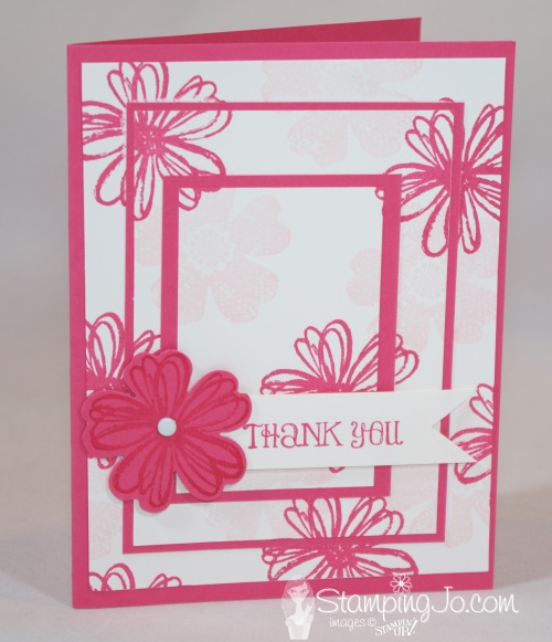 Triple Time Stamping Flower Shop Stampin Up 1