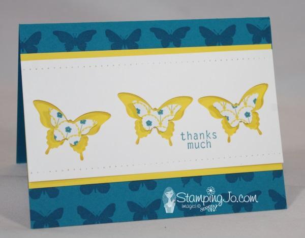 Gingham Garden Butterfly Card