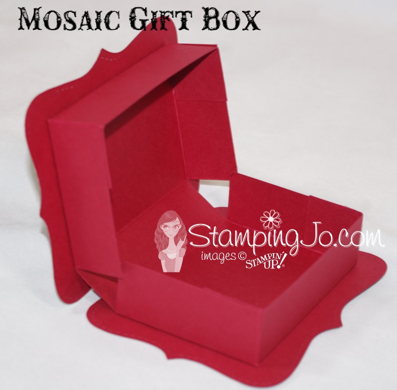 Mosaic Gift Box Stampin Up3