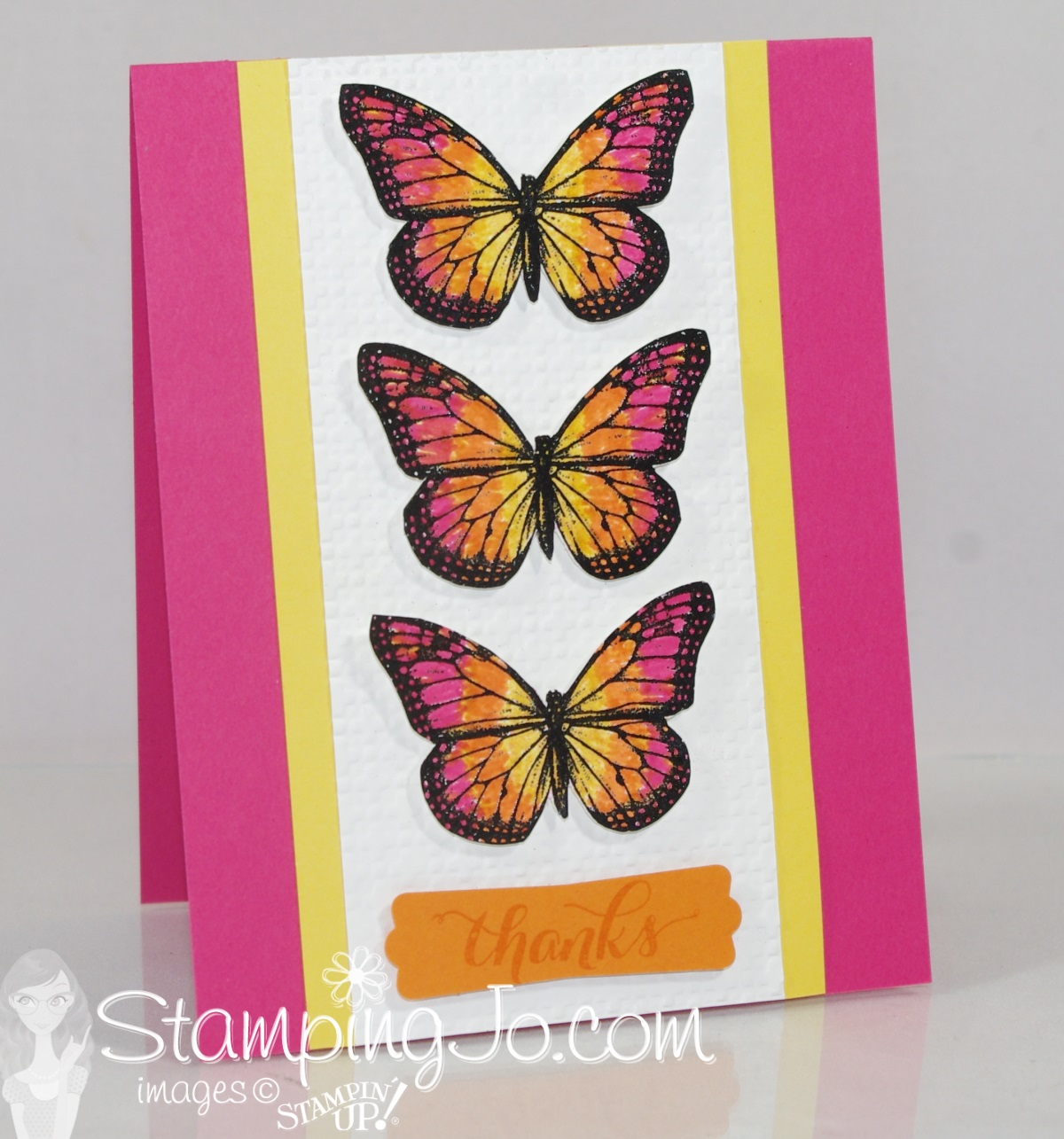 thank you card stampin up butterfly 1
