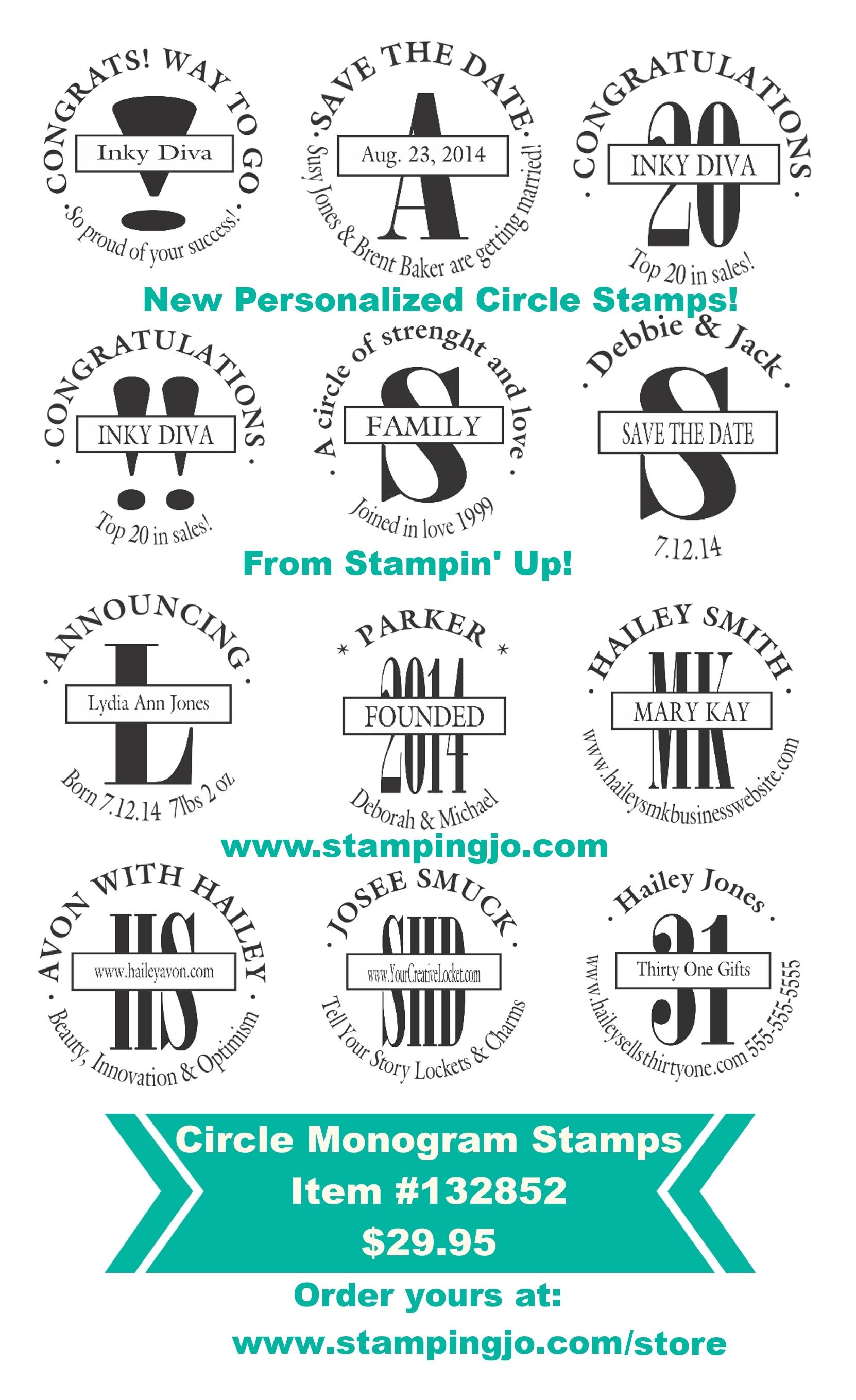 stampin up circle monogram stamp 2