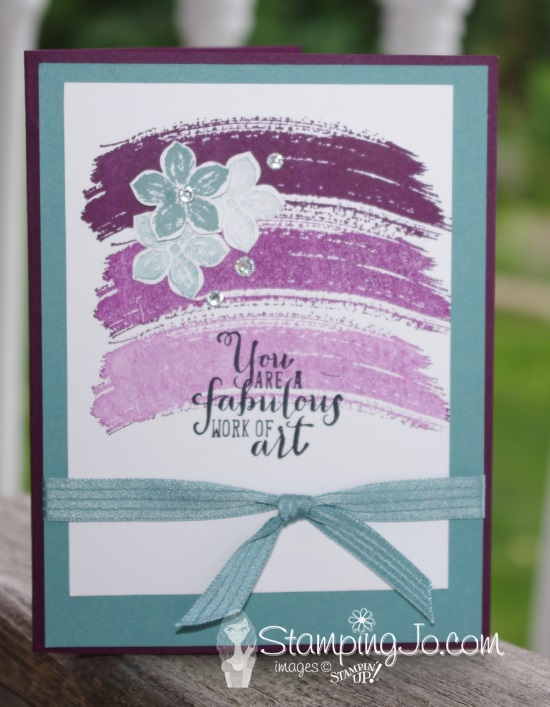 Stampin' Gals Gone Wild Wednesday- Five-Minute Work of Art
