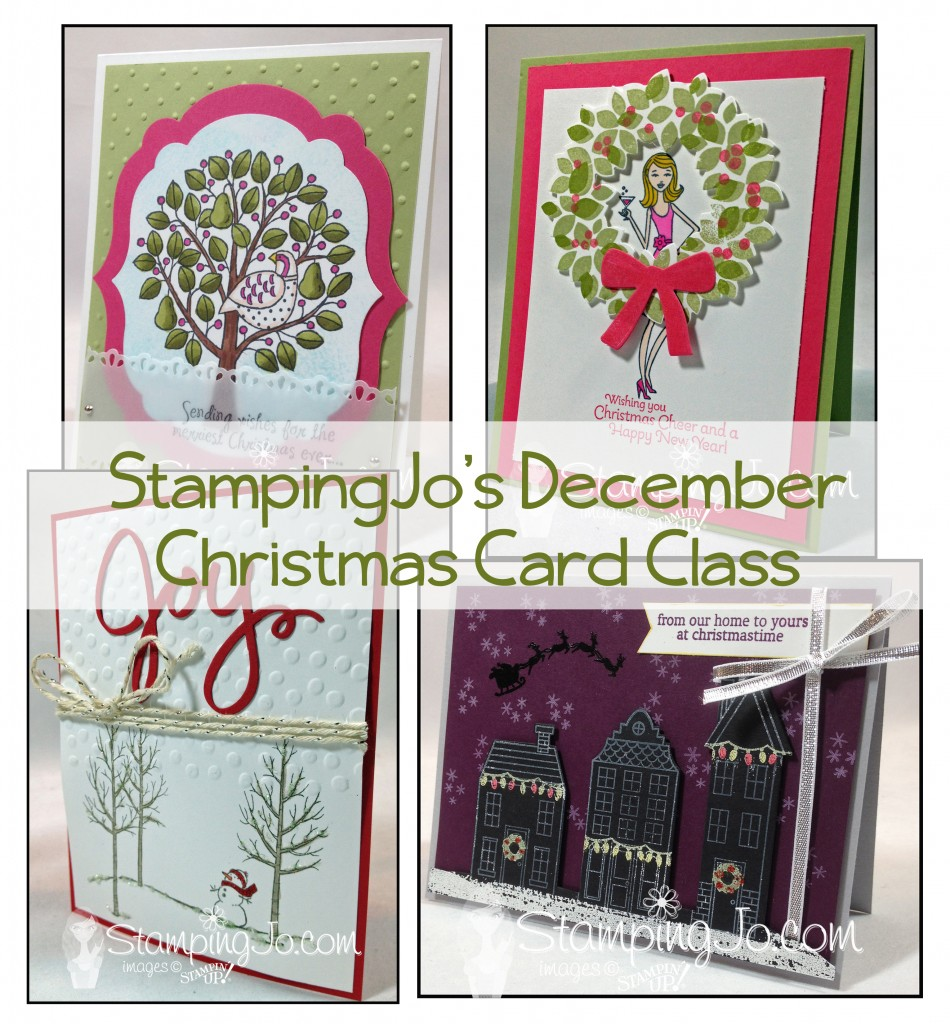christmas card class preview