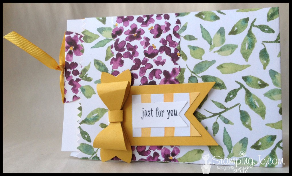 StampingJo Painted Bloom Treat Bag card
