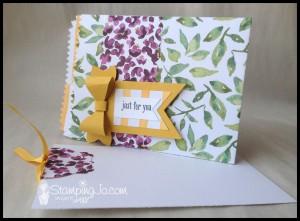 StampingJo Painted Bloom Mini Treat Bag card