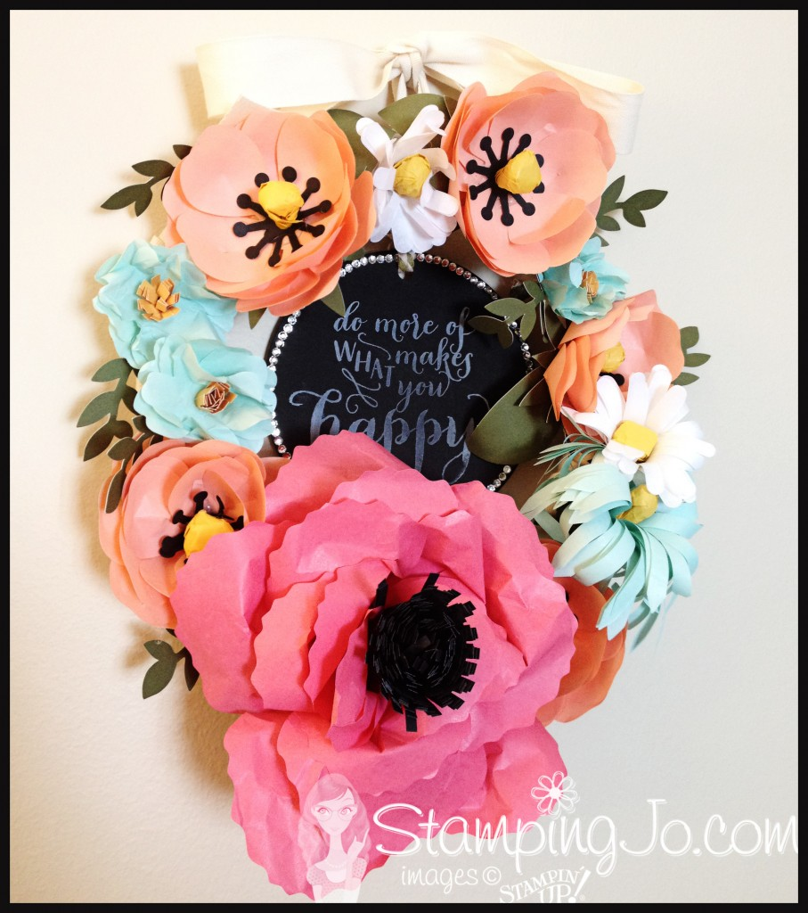 Build A Bouquet Wreath by StampingJo