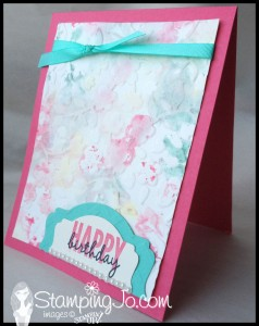 stamping jo watercolour emboss with Spring Flowers Celebrate Today