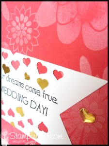 StampingJo Big News Confetti hearts wedding