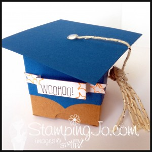StampingJo Grad Tiny Treat Box