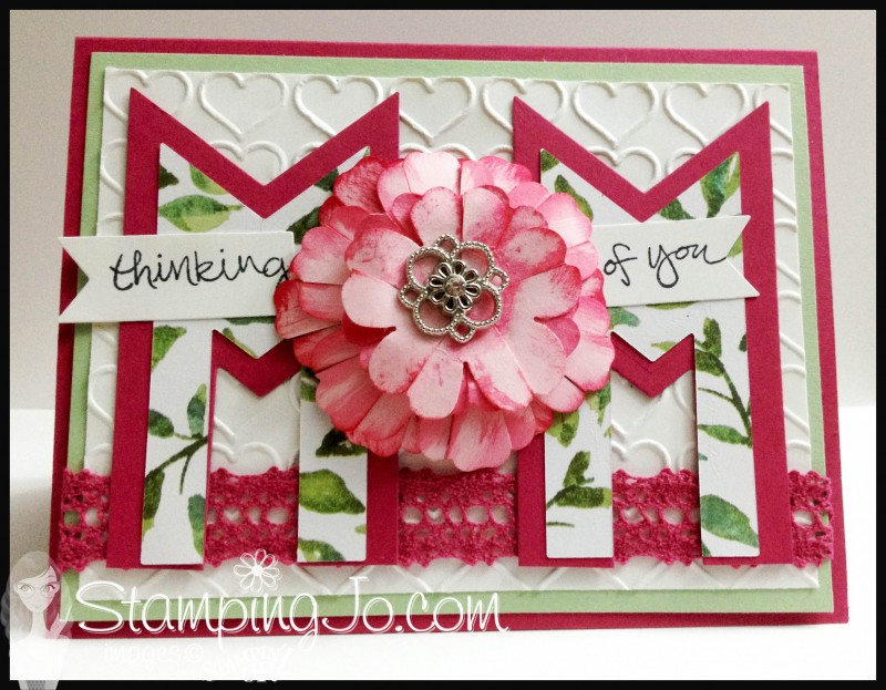 StampingJo Mom Card Banner Framelits Happy Heart Emboss folder
