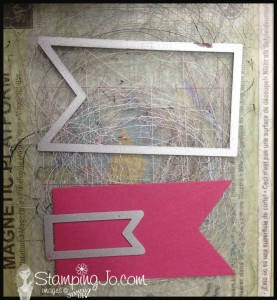 StampingJo Mom card banner framelits