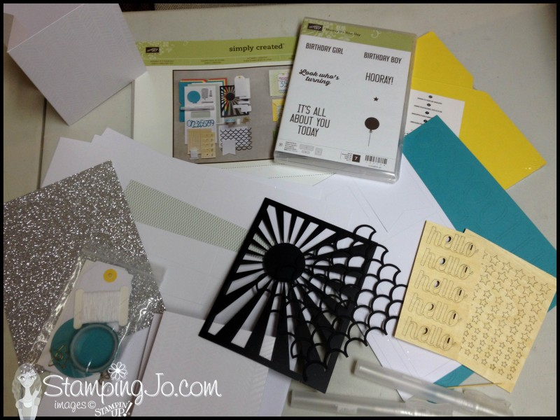 stamping jo hooray it's your day kit