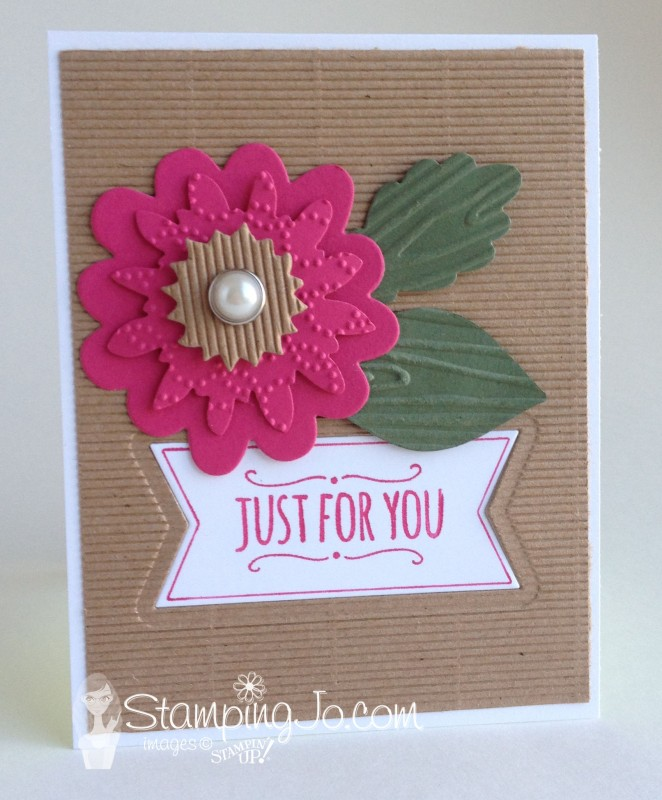 You're So Sweet, Flower Fair corrugated flower- stampingjo