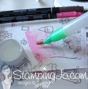 Stampin Write markers & alcohol coloring technique