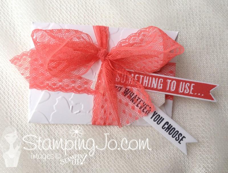 Gift Card Envelope & Trims Thinlits, Fluttering EF