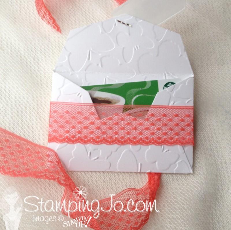 Gift Card Envelope open