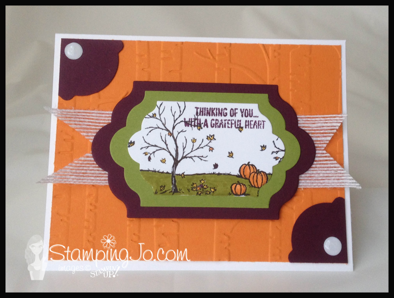 Happy Scenes Fall card by StampingJo