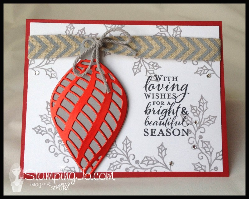 Embellished Ornaments; Christmas card, easy stamped card, homemade card, christmas card idea