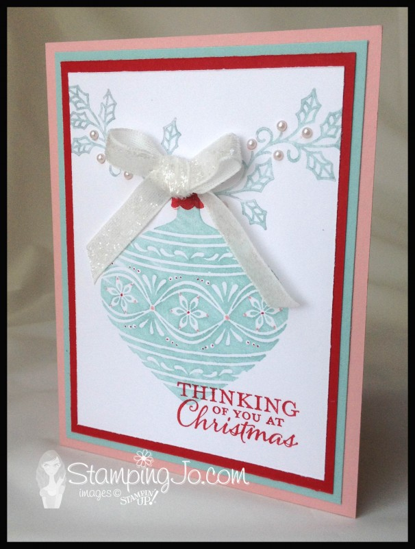 Embellished Ornaments, Christmas card, easy stamped card, homemade card, christmas card idea