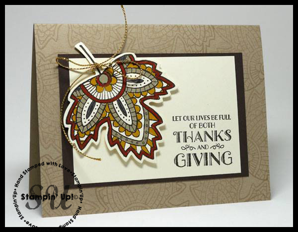 Lighthearted Leaves thanksgiving card