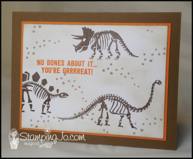 No Bones About It, Stampin Up, boy card, masculine, birthday card, all occasion card, hand stamped, quick and easy card