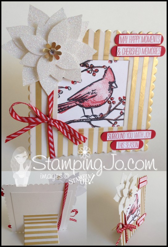 StampingJo Christmas gift frame, Big Shot, Square Framelits, coaster board, chipboard, christmas, flower builder punch,