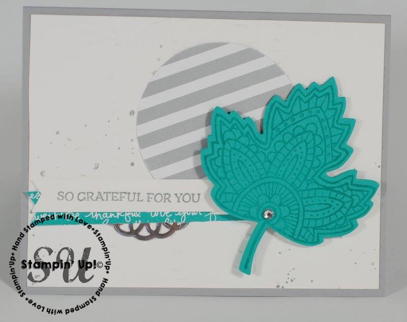 Lighthearted Leaves, Stampin Up, Fall card, thank you card, hand stamped card