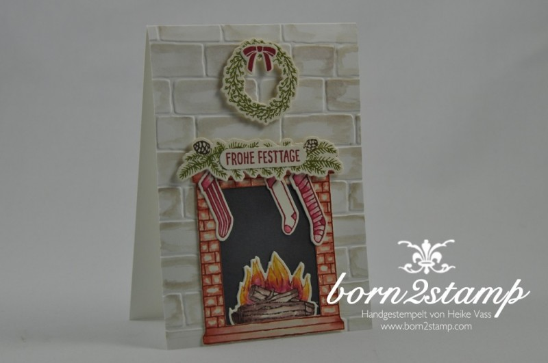 born2stamp-STAMPIN-UP-Weihnachtskarte-Festive-Fireplace-Framelits-Am-Kamin-Mischstifte-Wassertankpinsel-1-1024x680