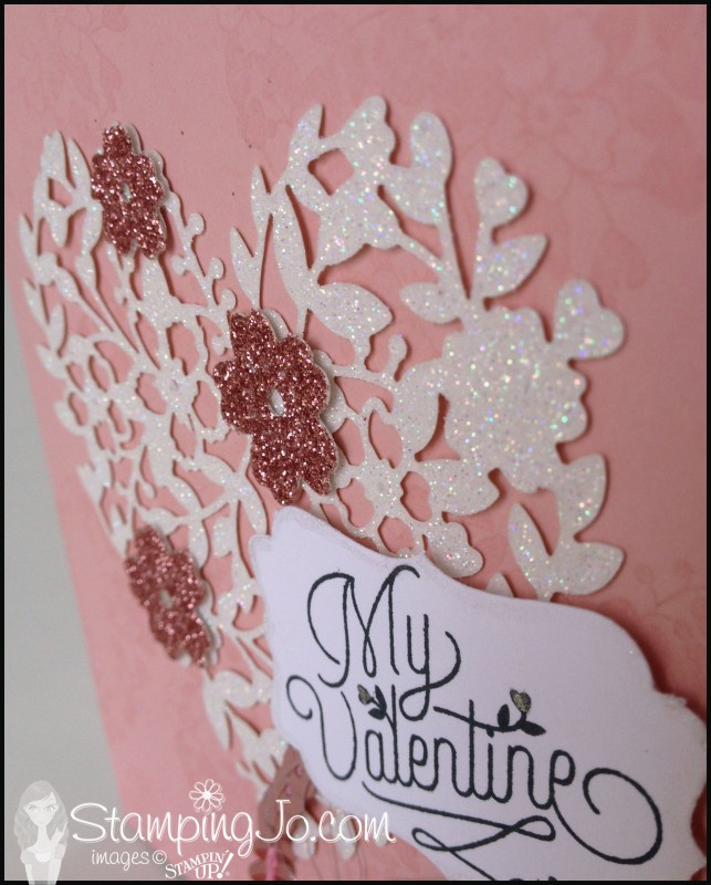 Bloomin Love, Bloomin Heart Thinlit, hand stamped, Valentine card, Big Shot,