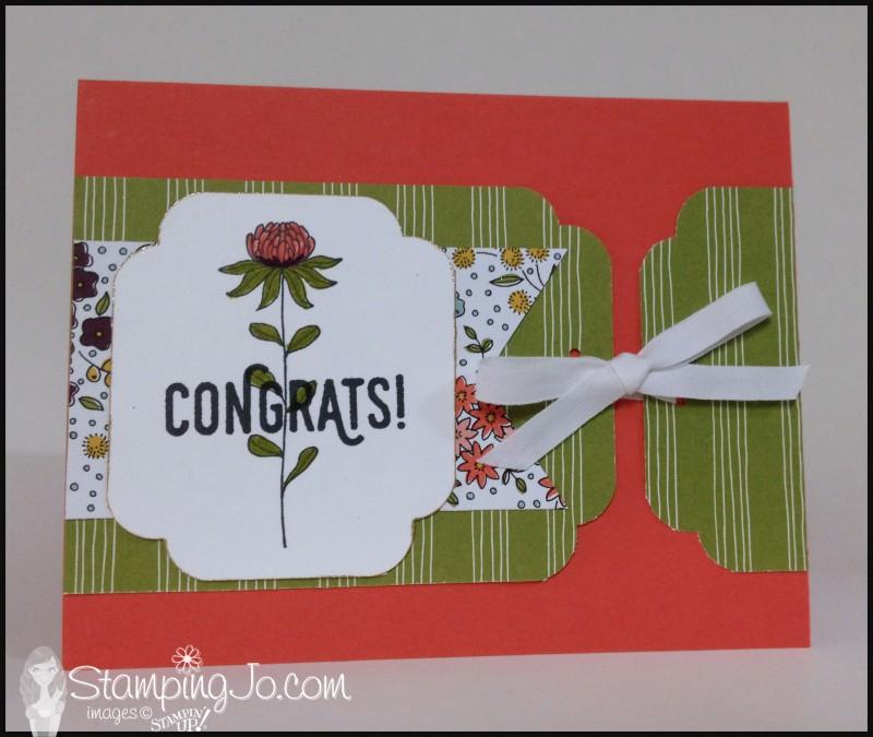 Flowering Fields stamp set, Wildflower Fields Designer Series Paper, Banner triple punch, hand made card, hand stamped card, Curvy Corner Trio Punch, Perfect Pairings