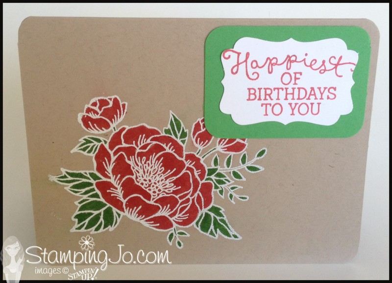Birthday Bloom, hand made, hand stamped, birthday card