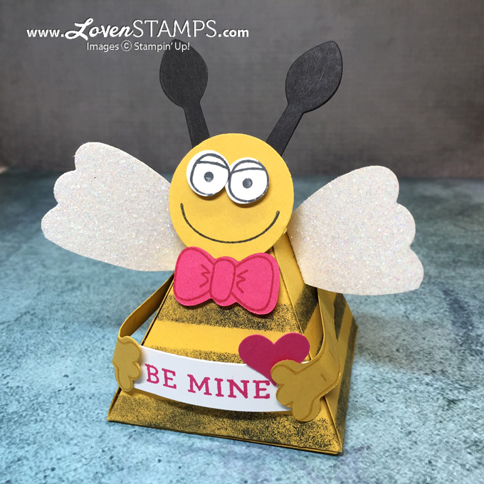 pyramid-playful-pals-valentine-bee-mine-lovenstamps-stampin-up-triangle-box