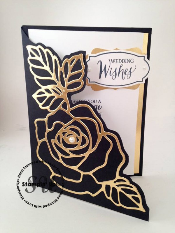 Rose Wonder, Rose Garden Thinlits, Stampin Up, StampingJo.com, wedding card, hand made card, hand stamped card, Big Shot