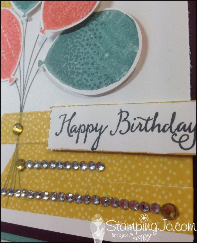 Balloon Celebration Birthday Card by Stamping Jo