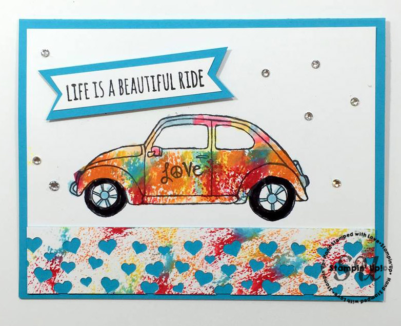 Beautiful Ride, Stampin Up, hand stamped, hand made, all occasion card,