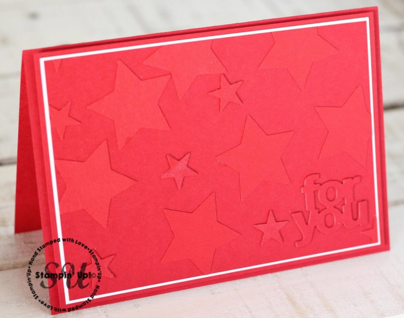 Faux Dry Embossing & Last day of Sale-A-Bration!