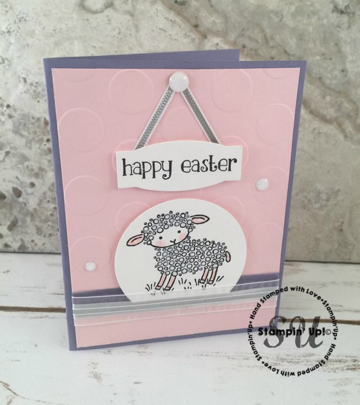 Happy Easter card, Stampin Up, Easter Lamb stamp