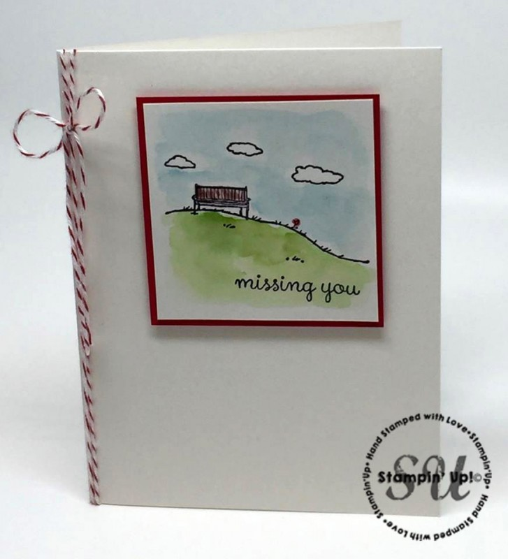 Happy Home, Missing You card, hand stamped, hand made card, Stampin Up
