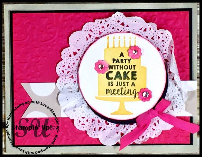 Party Wishes, Stampin Up, hand stamped, hand made, birthday card