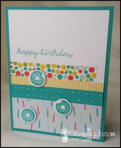 Sprinkles On Top, hand stamped, birthday card, Stampin' Up