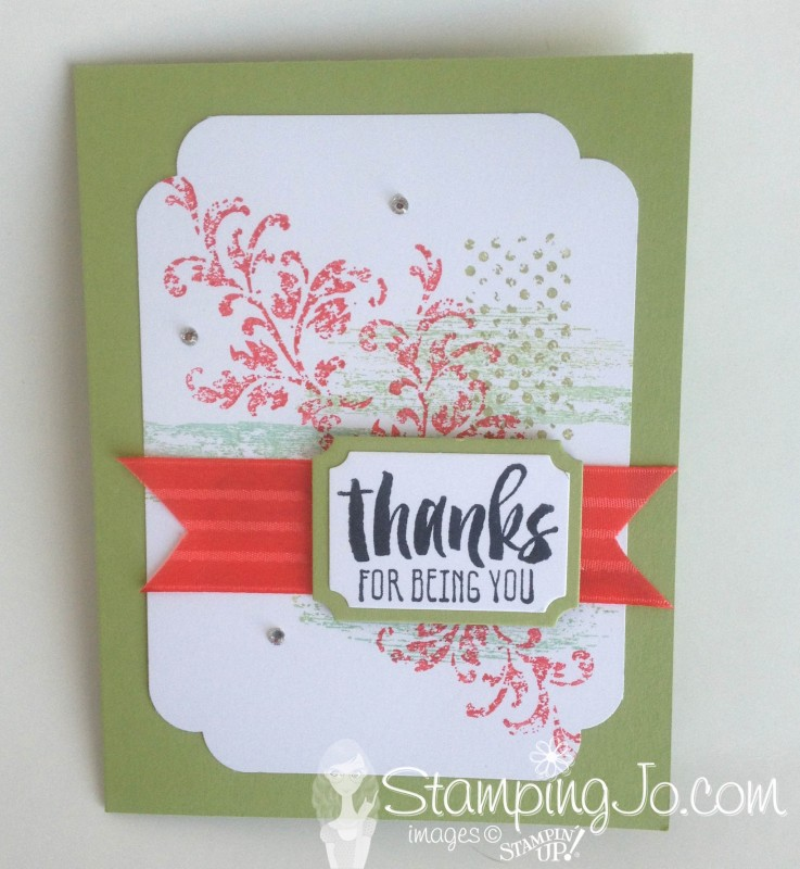 Timeless Textures & Suite Sayings, Stampin Up, hand made, thank you card