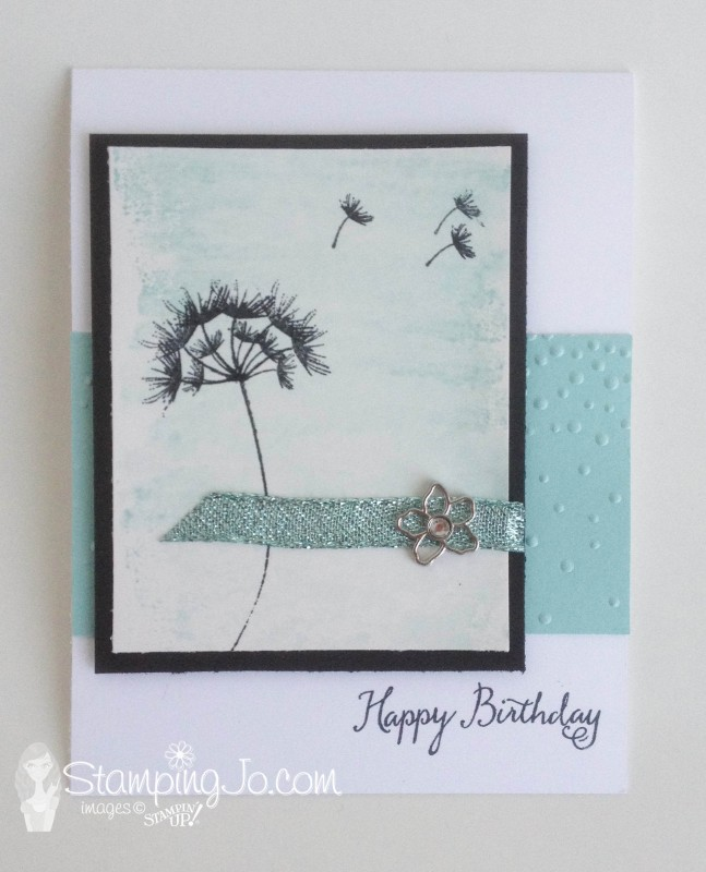 Balloon Celebration, hand made, birthday card, Stampin Up, Soft Falling Textured Impression Embossing folder, dandelion, glitter ribbon