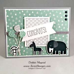 Zoo-Babies-Sparkle-Shine-Party-Wishes-Stampin-Up by Debbie Mageed