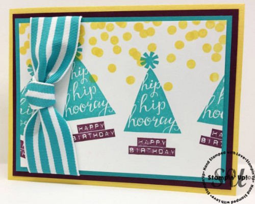 Silhouettes and Script Birthday Card