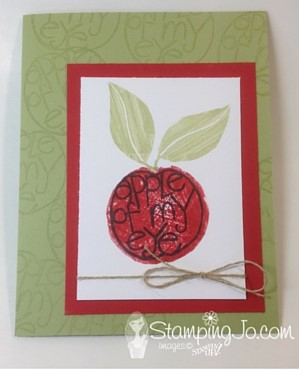 Apple card using Apple of My Eye stamp set by Stampin Up